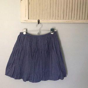 Free People pleated mini skirt size 6